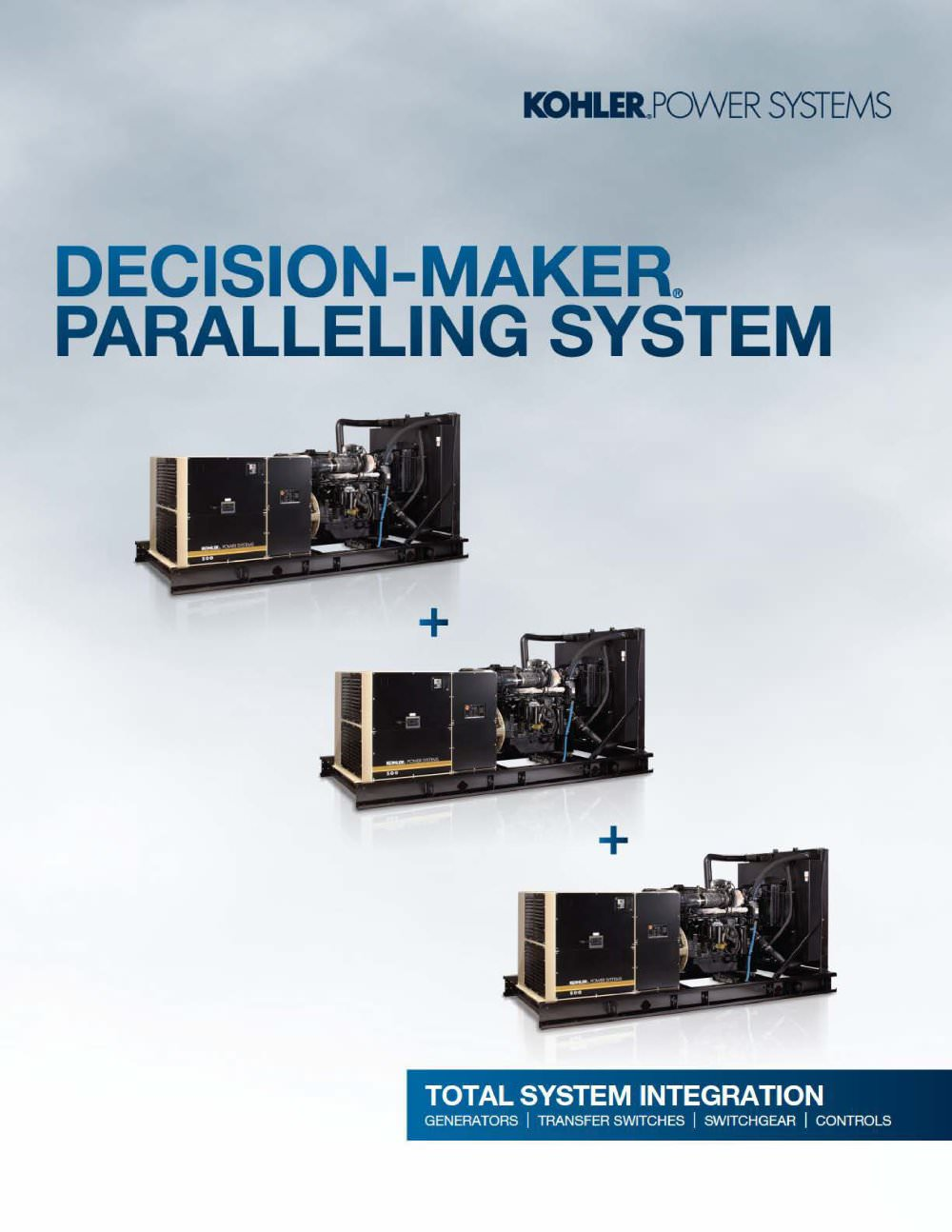 Decision Maker Paralleling System Kohler Power Systems Pdf Rxt Transfer Switch Wiring Diagram 1 8 Pages