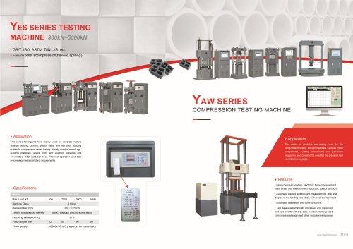 HST YAW Series and YES Series Compression Testing Machine 300kn-5000kn