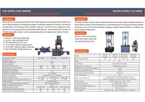 Jinan Hensgrand Electric-hydraulic Servo Load-Shear Testing Machine and High Temperature Endurance Creep Testing Machine