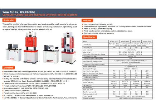 JINAN HENSGRAND WAW Series Computer Control Electro-Hydraulic Universal Testing Machine