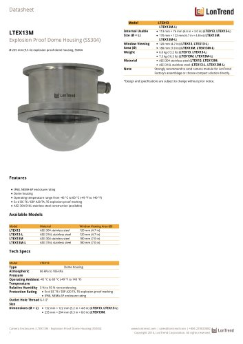 LTEX13M - Explosion proof housing