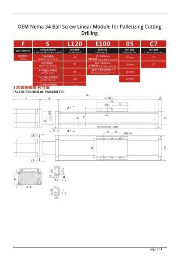 OEM Nema 34 Ball Screw Linear Module for Palletizing Cutting Drilling