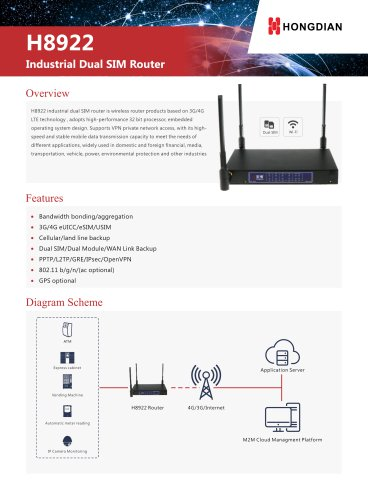 H8922 4G Router Technical Specification V1.0.1