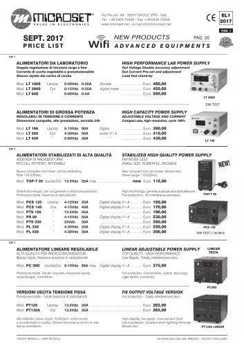 NEW PRODUCTS ADVANCED EQUIPMENTS