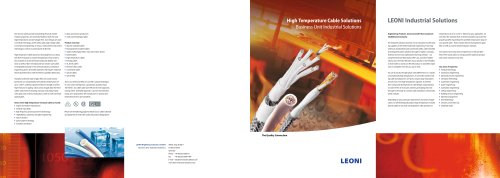 High Temperature Cable Solutions