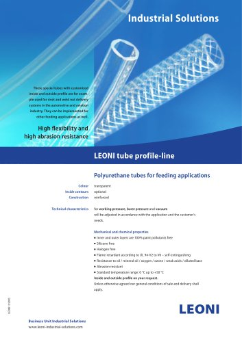 LEONI tube profile-line