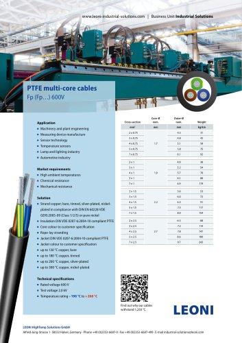 PTFE multi-core cables