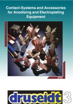 Contact-systems and accessories for electroplating equipment