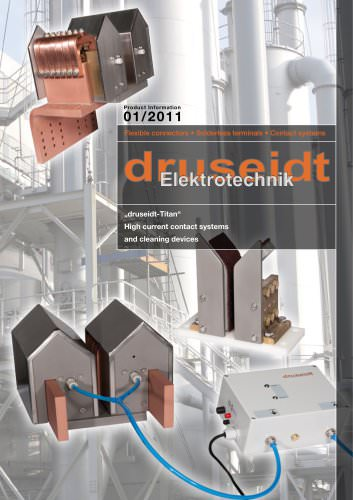 druseidt - TITAN Hydro-pneumatically activated high current contacts and cleaning systems for electroplating an anondizing plants (2,2 MB) (Productinformation 01/2011)