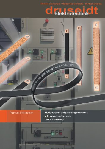 """Flexible power- and grounding connectors with welded contact areas """"Made in Germany"""""""