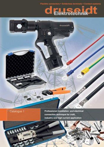 Professional installation- and electrical connection technique for craft, industry and high current application