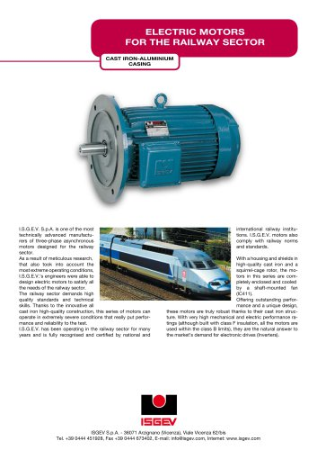 ELECTRIC MOTORS FOR THE RAILWAY SECTOR