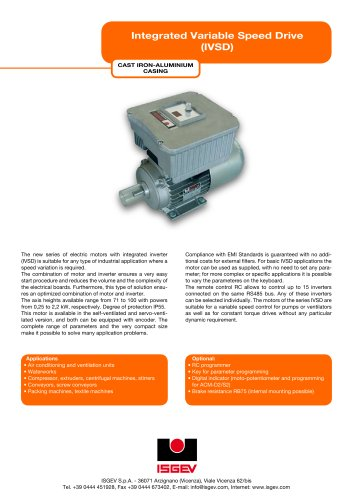 Integrated Variable Speed Drive  (IVSD)