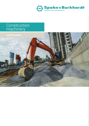 Construction machinery control systems