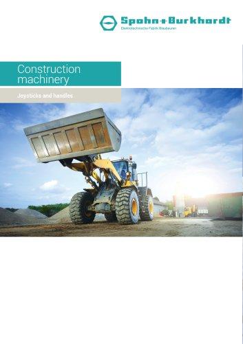 Construction machinery joysticks and handles