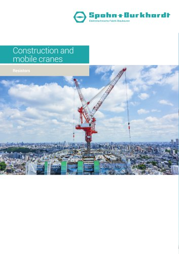 Construction and mobile cranes resistors