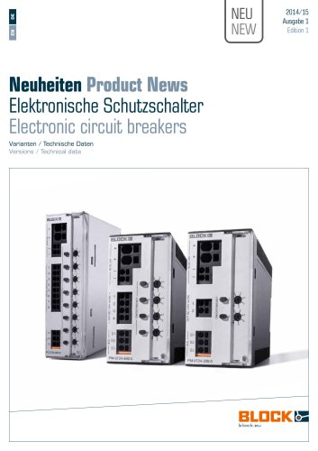Product News Electronic circuit breakers