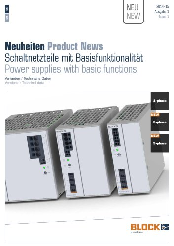 PRODUCT NEWS POWER SUPPLIES WITH BASIC FUNCTIONS