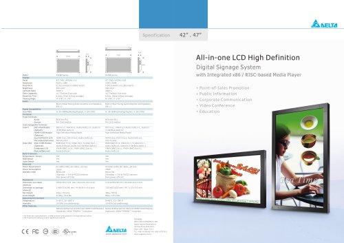 "47"" High Definition Digital Signage Displays"