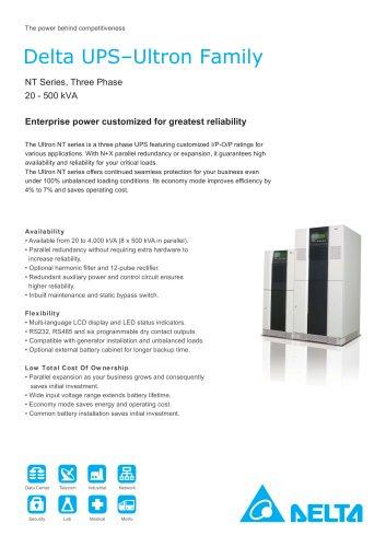 NT Series, Three Phase, 20-500 kVA