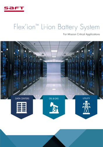 Flex'ion Li-ion Battery System For Mission Critical Applications