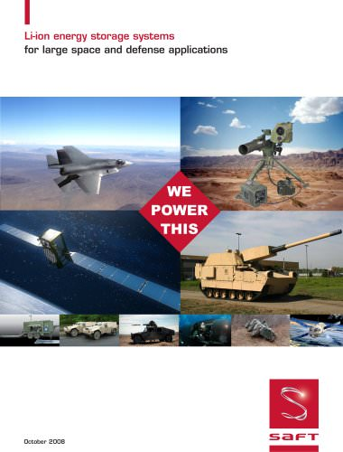 Li-ion energy storage systems  for large space and defense applications