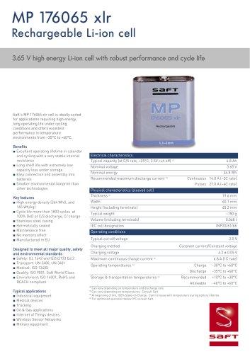 MP 176065 xlr product datasheet