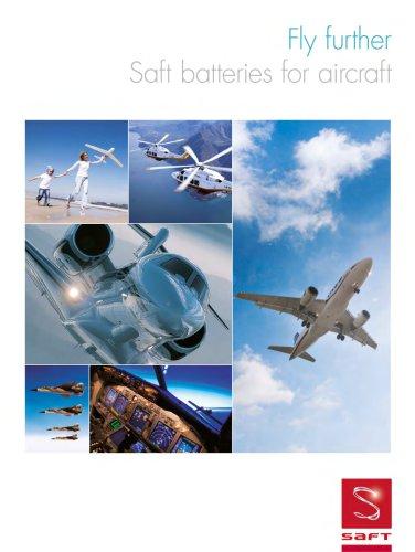 Saft batteries for aircraft