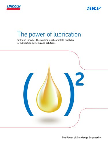 SKF and Lincoln lubrication products and services