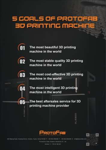 5 Goals of PROTOFAB 3D Printing Machine