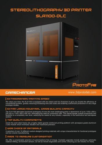 ProtoFab SLA1100 DLC