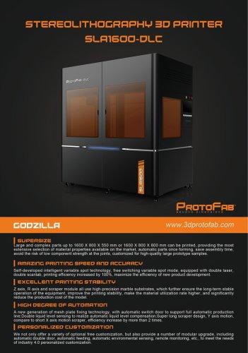 ProtoFab SLA1600 DLC