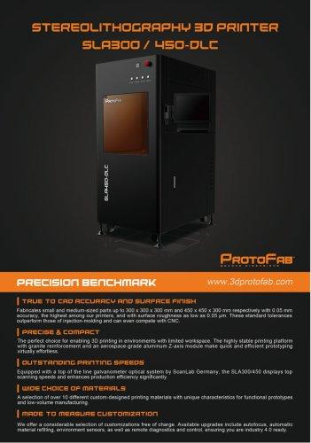 ProtoFab SLA300 /450 DLC