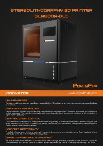 ProtoFab SLA600A DLC