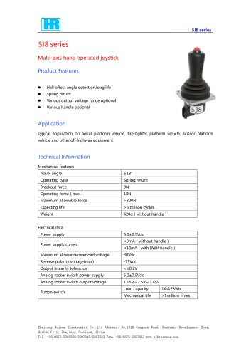 HALL EFFECT JOYSTICK / MULTI AXIS-SJ8