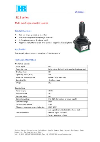 MULTI-AXIS JOYSTICK / 2 AXIS / POTENTIOMETER / FOR REMOTE CONTROL-SJ11