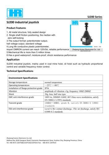 SJ200-SINGLE-AXIS JOYSTICK / HALL EFFECT / POTENTIOMETER / RUGGED