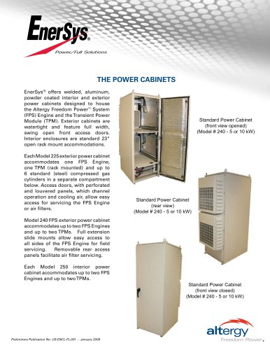 EnerSys Extended Runtime Solution Power Cabinets Flyer
