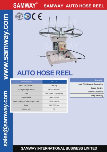 AUTO HOSE REEL Hydraulic & Industrial Hose Assembly Accessories Machine