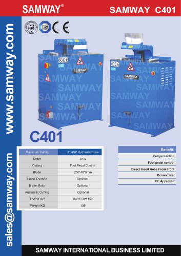 SAMWAY C401  Hydraulic Hose Cutting Machine
