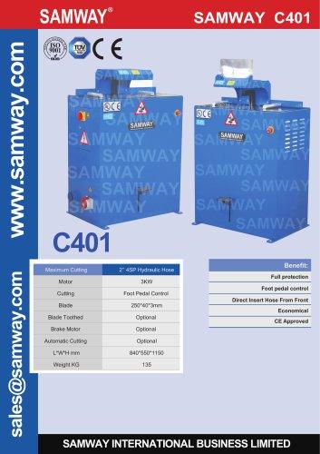 SAMWAY C401  Hydraulic Hose Cutting Machine