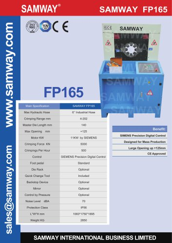 SAMWAY FP165  Hydraulic Hose Crimping Machine
