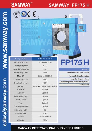 SAMWAY FP175 H  Hydraulic Hose  Crimping Machine