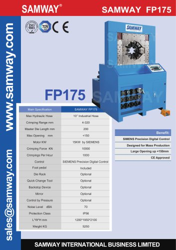 SAMWAY FP175  Hydraulic Hose Crimping Machine