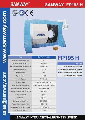 SAMWAY FP195 H  Hydraulic Hose Crimping Machine