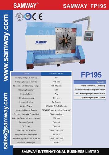 SAMWAY FP195 Industrial  Hose Crimping Machine