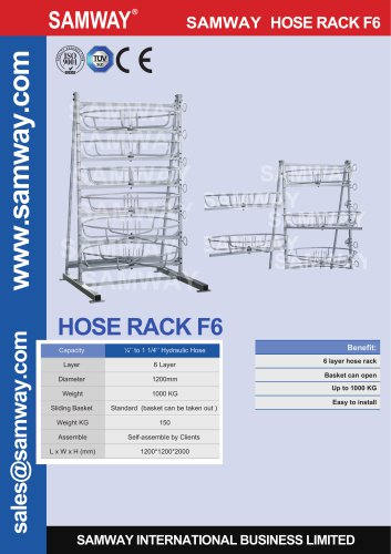 SAMWAY HOSE RACK F6 Hydraulic & Industrial Hose Assembly Accessories Machine