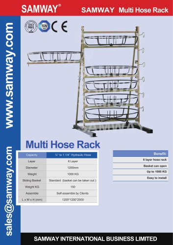 SAMWAY HOSE RACK  Hydraulic & Industrial Hose Assembly Accessories Machine