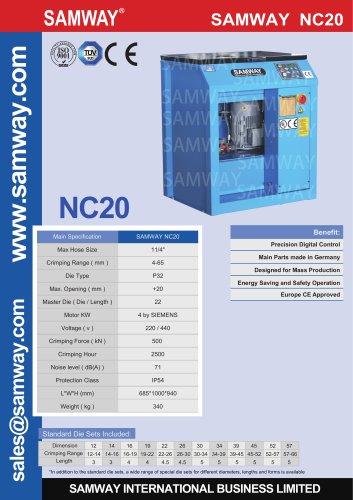 SAMWAY NC20  Hydraulic Hose Crimping Machine