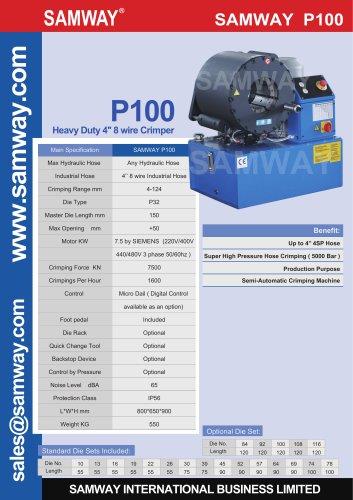 SAMWAY P100  Industrial Hose Crimping Machine